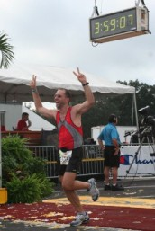 Matt Finishing The Disney Marathon 2008