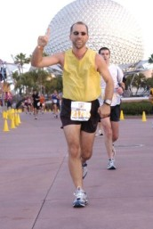 Matt Finishing The Disney Half-Marathon 2008